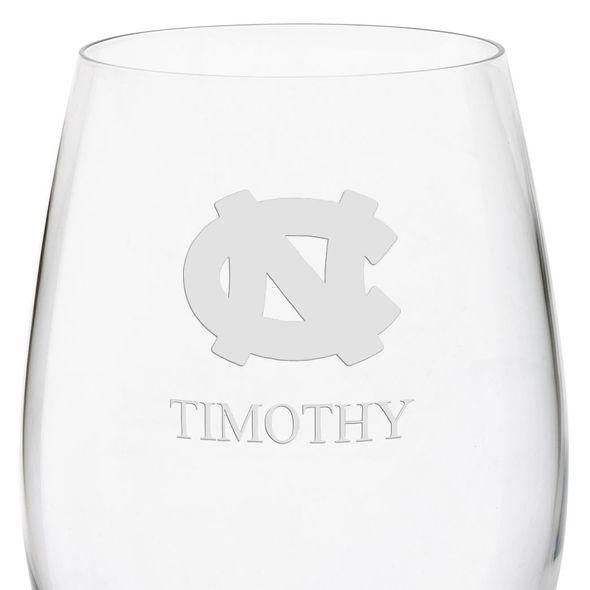 University of North Carolina Red Wine Glasses - Set of 2 - Image 3