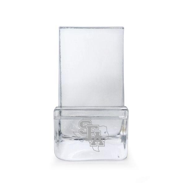 SFASU Glass Phone Holder by Simon Pearce