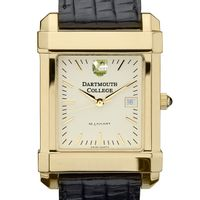 Dartmouth Men's Gold Quad Watch with Leather Strap
