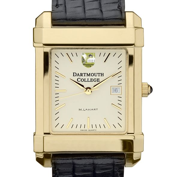 Dartmouth Men's Gold Quad Watch with Leather Strap - Image 1