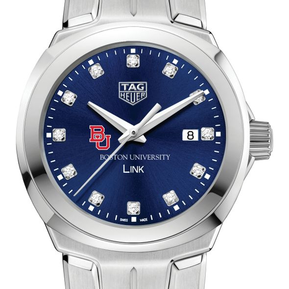 Boston University Women's TAG Heuer Link with Blue Diamond Dial