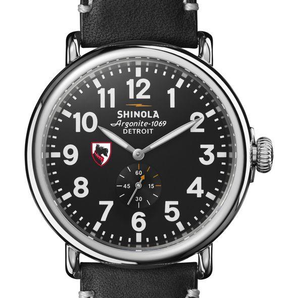 Carnegie Mellon Shinola Watch, The Runwell 47mm Black Dial