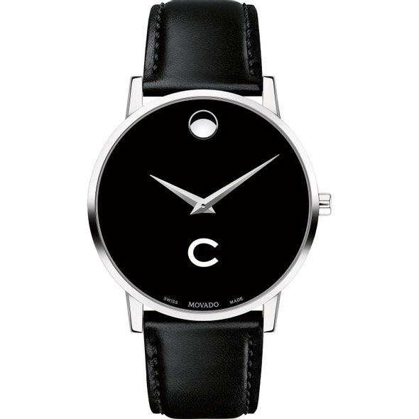Colgate University Men's Movado Museum with Leather Strap - Image 2