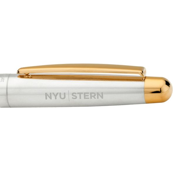 NYU Stern Fountain Pen in Sterling Silver with Gold Trim - Image 2
