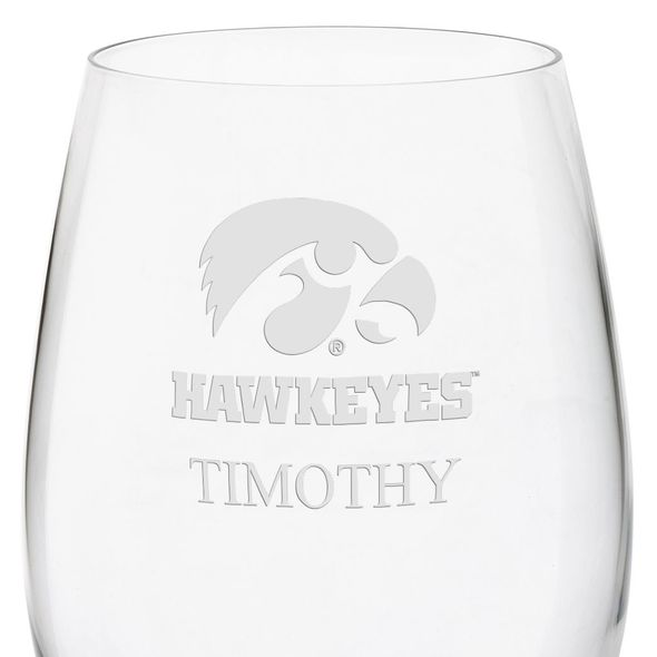 University of Iowa Red Wine Glasses - Set of 4 - Image 3
