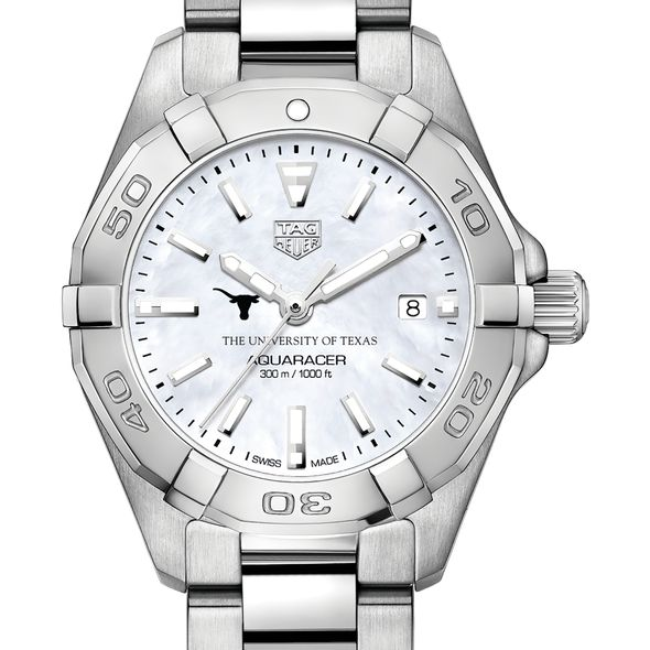 University of Texas Women's TAG Heuer Steel Aquaracer w MOP Dial