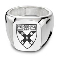 Harvard Business School Sterling Silver Rectangular Cushion Ring
