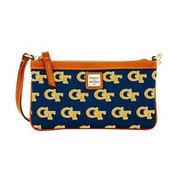 Georgia Tech  Dooney & Bourke Large Slim Wristlet
