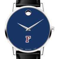 Fordham University Men's Movado Museum with Blue Dial & Leather Strap