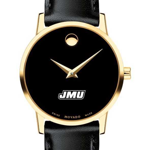 James Madison University Women's Movado Gold Museum Classic Leather