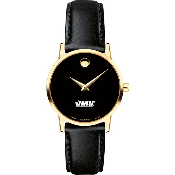 James Madison University Women's Movado Gold Museum Classic Leather - Image 2