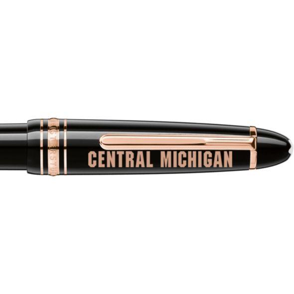 Central Michigan Montblanc Meisterstück LeGrand Ballpoint Pen in Red Gold - Image 2