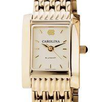 UNC Women's Gold Quad Watch with Bracelet