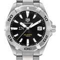 Sigma Nu Men's TAG Heuer Steel Aquaracer with Black Dial - Image 1