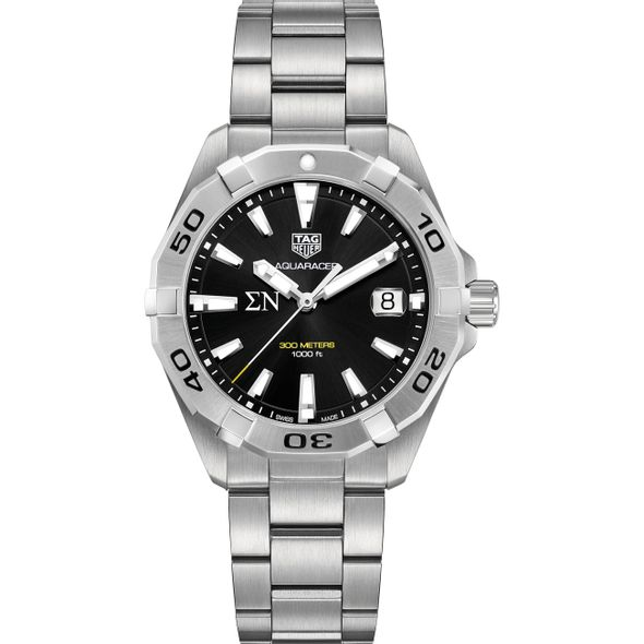 Sigma Nu Men's TAG Heuer Steel Aquaracer with Black Dial - Image 2