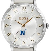 US Naval Academy Women's BOSS White Leather from M.LaHart