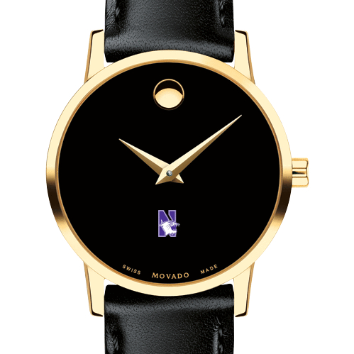 Northwestern Women's Movado Gold Museum Classic Leather