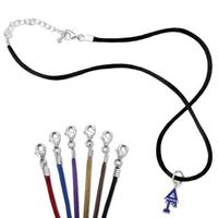 Delta Gamma Satin Necklace with Greek Letter Charm