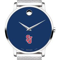 St. John's University Men's Movado Museum with Blue Dial & Mesh Bracelet