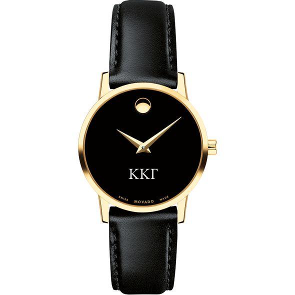 Kappa Kappa Gamma Women's Movado Gold Museum Classic Leather - Image 2