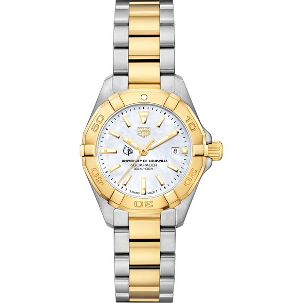 University of Louisville TAG Heuer Two-Tone Aquaracer for Women - Image 2