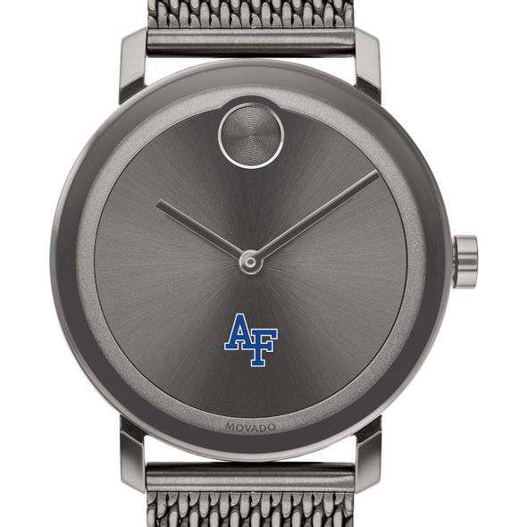 US Air Force Academy Men's Movado BOLD Gunmetal Grey with Mesh Bracelet
