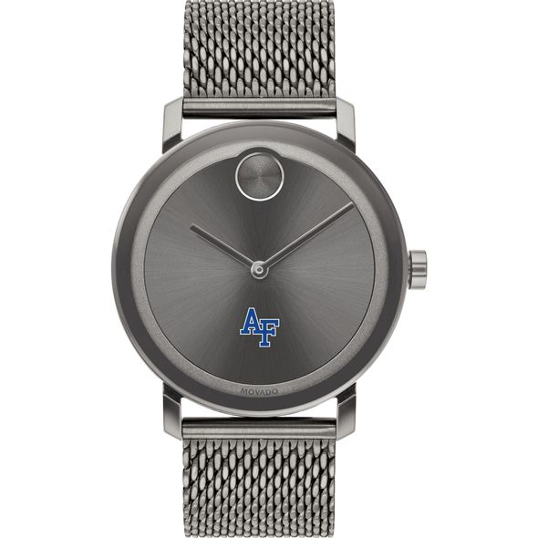 US Air Force Academy Men's Movado BOLD Gunmetal Grey with Mesh Bracelet - Image 2