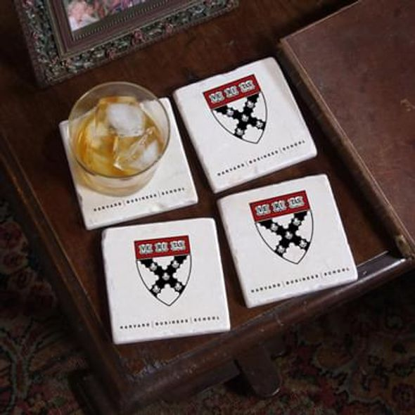 Harvard Business School Marble Coasters - Image 1