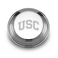 University of Southern California Pewter Paperweight
