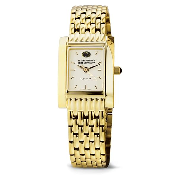 Penn State Women's Gold Quad Watch with Bracelet - Image 2