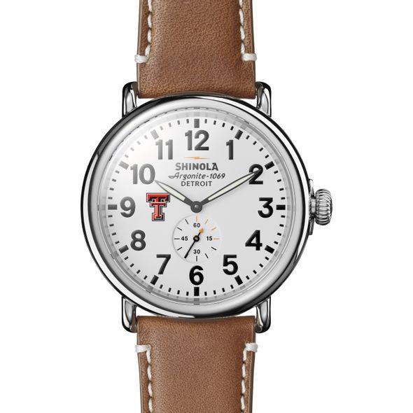Texas Tech Shinola Watch, The Runwell 47mm White Dial - Image 2