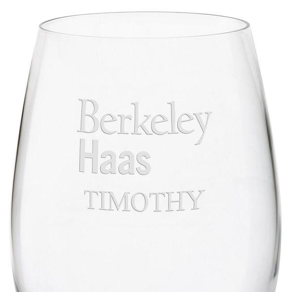 Berkeley Haas Red Wine Glasses - Set of 4 - Image 3