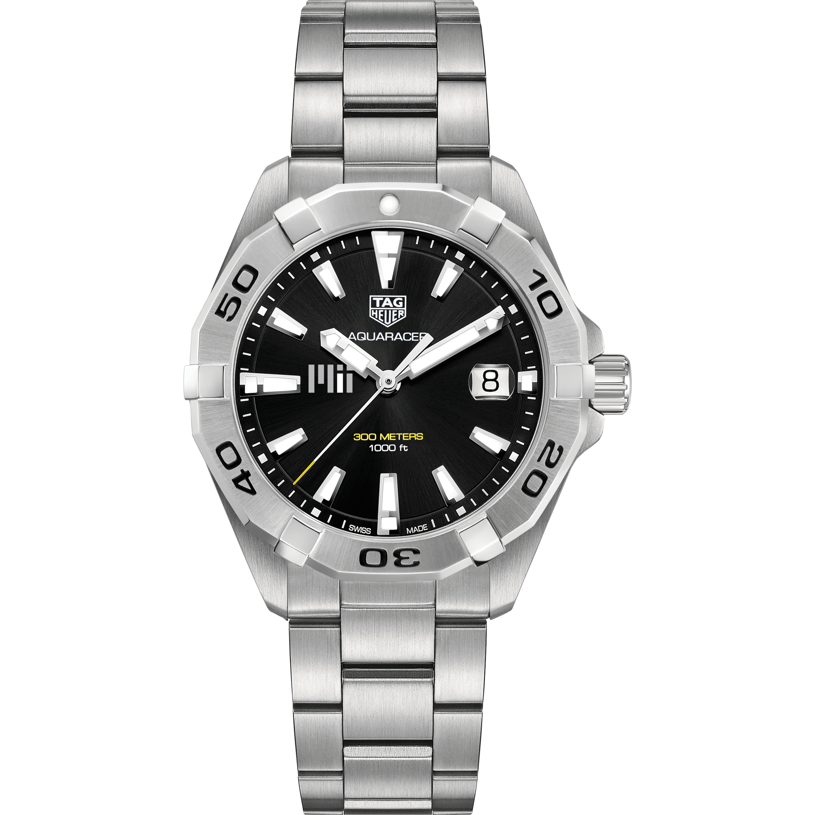 MIT Men's TAG Heuer Steel Aquaracer with Black Dial - Image 2