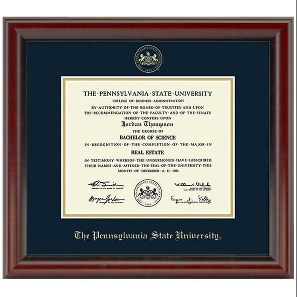 Penn State University Diploma Frame, the Fidelitas