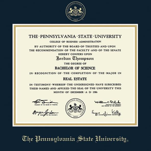 Penn State University Diploma Frame, the Fidelitas - Image 2