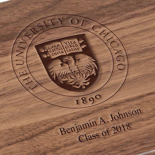 University of Chicago Solid Walnut Desk Box - Image 3