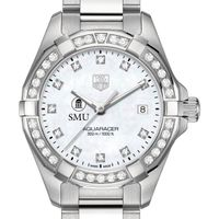 Southern Methodist University W's TAG Heuer Steel Aquaracer with MOP Dia Dial & Bezel