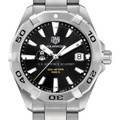 US Air Force Academy Men's TAG Heuer Steel Aquaracer with Black Dial - Image 1