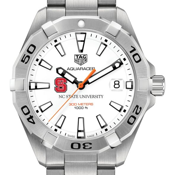 North Carolina State Men's TAG Heuer Steel Aquaracer - Image 1