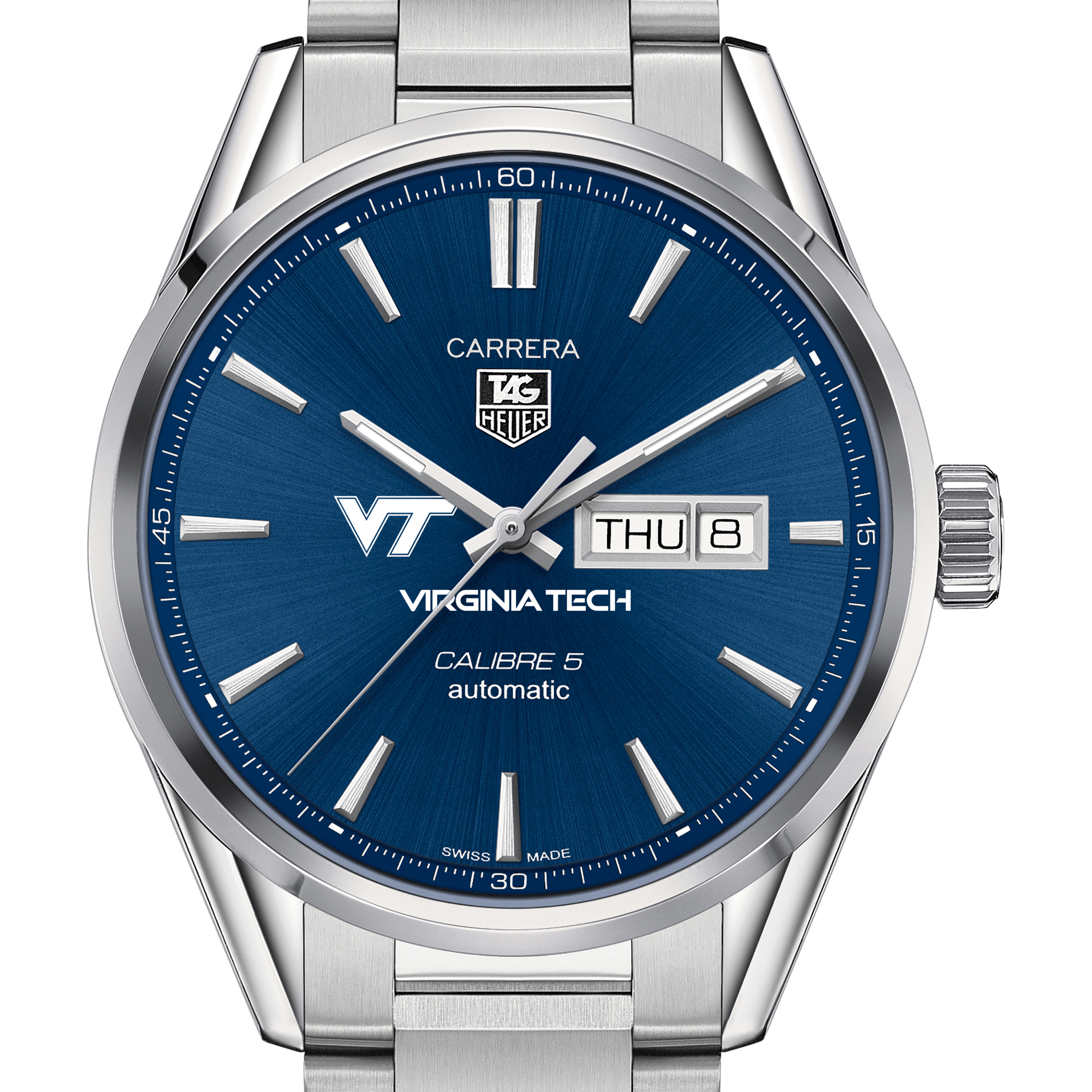 Virginia Tech Men's TAG Heuer Carrera with Day-Date - Image 1