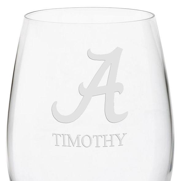 University of Alabama Red Wine Glasses - Set of 2 - Image 3
