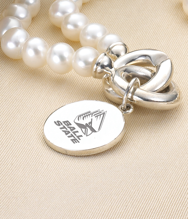 Ball State University Jewelry for Women - Sterling Silver Charms, Bracelets, Necklaces. Personalized Engraving.