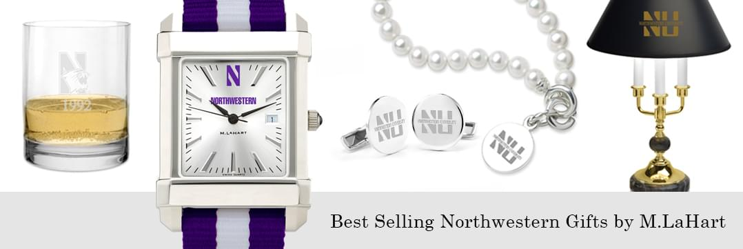 Best selling Northwestern watches and fine gifts at M.LaHart