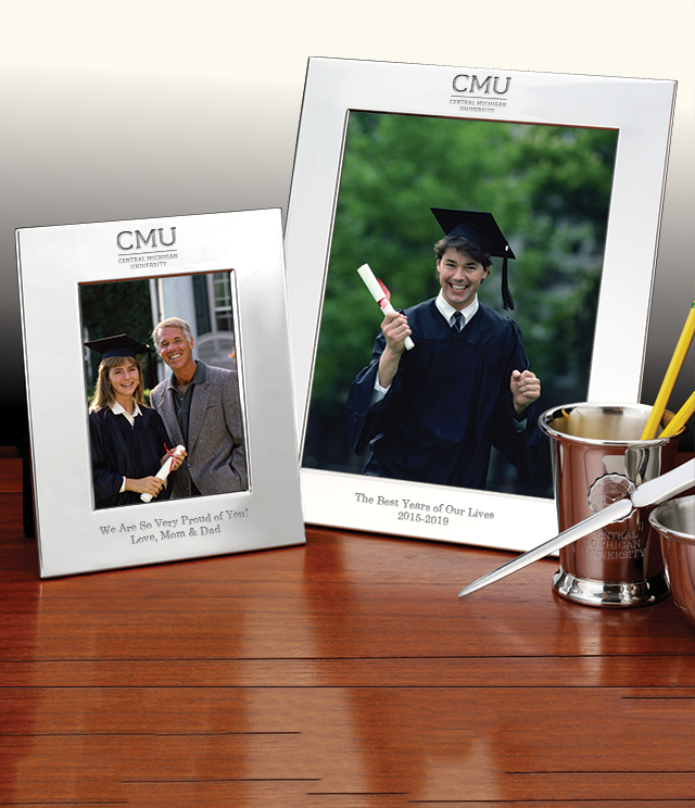 Central Michigan University Picture Frames and Desk Accessories - Central Michigan University Commemorative Cups, Frames, Desk Accessories and Letter Openers