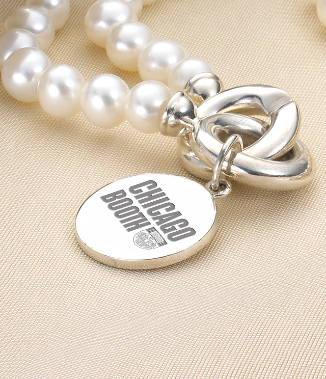 Chicago Booth Jewelry for Women - Sterling Silver Charms, Bracelets, Necklaces. Personalized Engraving.