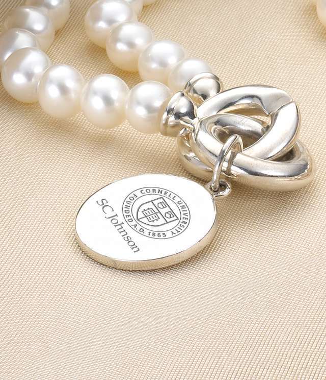 Cornell SC Johnson College Jewelry for Women - Sterling Silver Charms, Bracelets, Necklaces. Personalized Engraving.