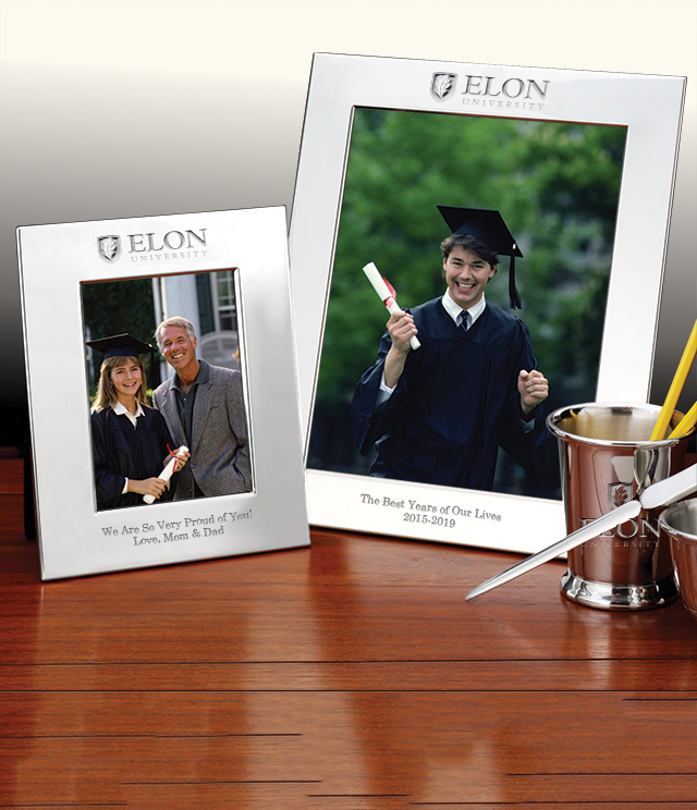 Elon University Picture Frames and Desk Accessories - Elon University Commemorative Cups, Frames, Desk Accessories and Letter Openers
