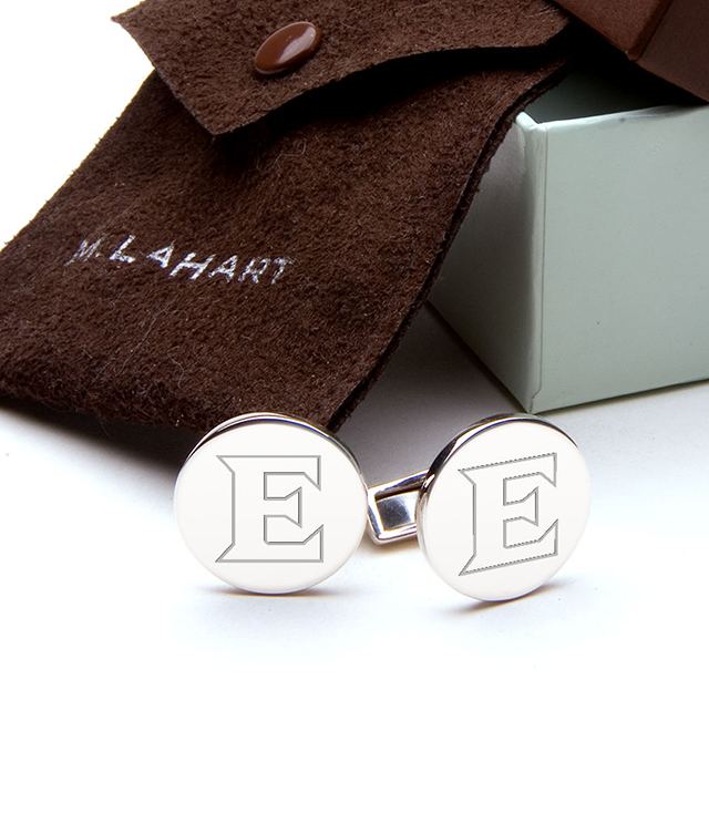 Elon University Men's Sterling Silver and Gold Cufflinks, Money Clips - Personalized Engraving
