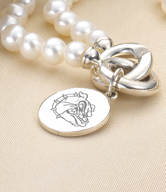 Gonzaga Jewelry for Women - Sterling Silver Charms, Bracelets, Necklaces. Personalized Engraving.