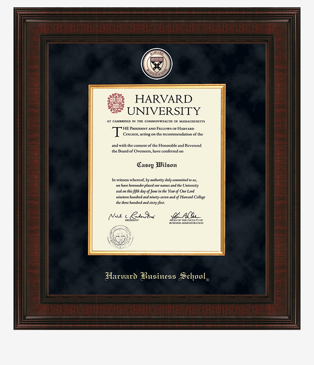 Harvard Business School Picture Frames and Desk Accessories - Harvard Business School Commemorative Cups, Frames, Desk Accessories and Letter Openers